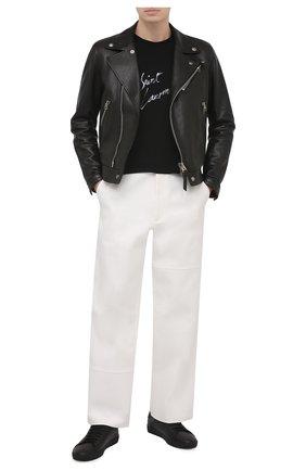 Мужские кожаные кеды court classic sl/06 SAINT LAURENT черного цвета, арт. 650003/0ZS11 | Фото 2