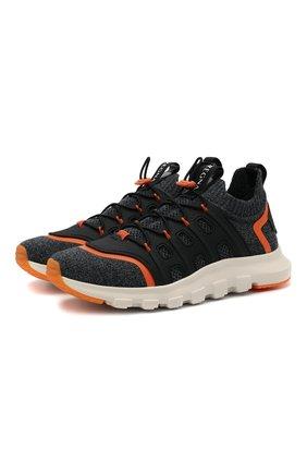 Мужские текстильные кроссовки sock 2.0 Z ZEGNA темно-серого цвета, арт. A4917X-LHTPU | Фото 1 (Материал внутренний: Текстиль; Подошва: Массивная; Материал внешний: Текстиль; Стили: Спорт)
