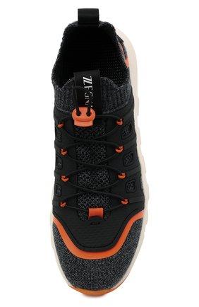 Мужские текстильные кроссовки sock 2.0 Z ZEGNA темно-серого цвета, арт. A4917X-LHTPU   Фото 5 (Материал внешний: Текстиль; Материал внутренний: Текстиль; Подошва: Массивная; Стили: Спорт)