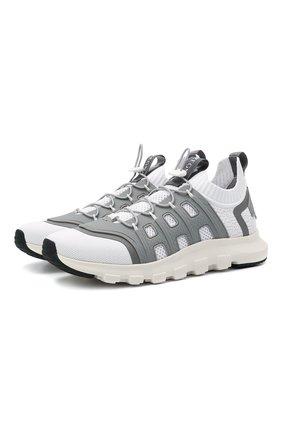 Мужские текстильные кроссовки sock 2.0 Z ZEGNA светло-серого цвета, арт. A4917X-LHTPU | Фото 1