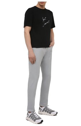 Мужские текстильные кроссовки sock 2.0 Z ZEGNA светло-серого цвета, арт. A4917X-LHTPU | Фото 2