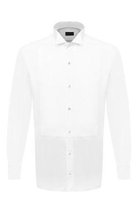 Мужская хлопковая сорочка ERMENEGILDO ZEGNA белого цвета, арт. 901980/9MENSM | Фото 1