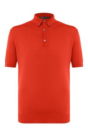 Мужское хлопковое поло LORO PIANA оранжевого цвета, арт. FAI6175 | Фото 1
