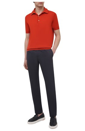 Мужское хлопковое поло LORO PIANA оранжевого цвета, арт. FAI6175 | Фото 2