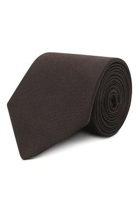 Мужской шелковый галстук ETON темно-коричневого цвета, арт. A000 31550 | Фото 1 (Материал: Шелк, Текстиль; Принт: Без принта)