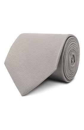 Мужской шелковый галстук ETON серого цвета, арт. A000 31550   Фото 1 (Материал: Шелк, Текстиль; Принт: Без принта)