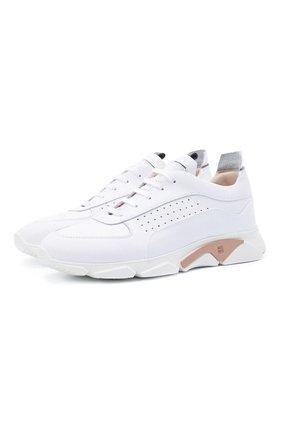Мужские кожаные кроссовки MOMA белого цвета, арт. 4AS018-BT | Фото 1