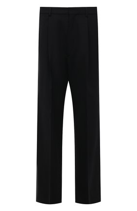 Мужские шерстяные брюки DSQUARED2 черного цвета, арт. S71KB0347/S40320 | Фото 1 (Длина (брюки, джинсы): Стандартные; Материал внешний: Шерсть; Случай: Повседневный; Стили: Гранж)