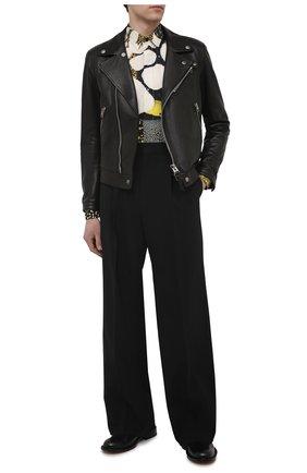 Мужские шерстяные брюки DSQUARED2 черного цвета, арт. S71KB0347/S40320 | Фото 2 (Длина (брюки, джинсы): Стандартные; Материал внешний: Шерсть; Случай: Повседневный; Стили: Гранж)