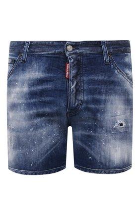 Мужские джинсовые шорты DSQUARED2 темно-синего цвета, арт. S74MU0659/S30342 | Фото 1