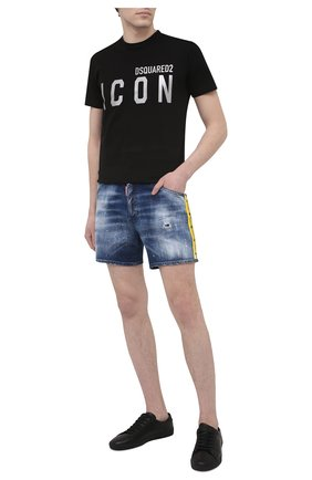 Мужские джинсовые шорты DSQUARED2 темно-синего цвета, арт. S74MU0659/S30342 | Фото 2