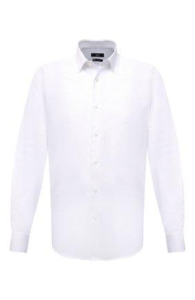 Мужская хлопковая сорочка BOSS белого цвета, арт. 50449827   Фото 1