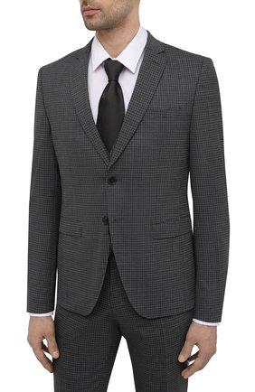 Мужской костюм-тройка BOSS темно-серого цвета, арт. 50450366 | Фото 2