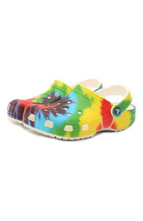 Детские сабо classic tie dye CROCS разноцветного цвета, арт. 205453-90H   Фото 1