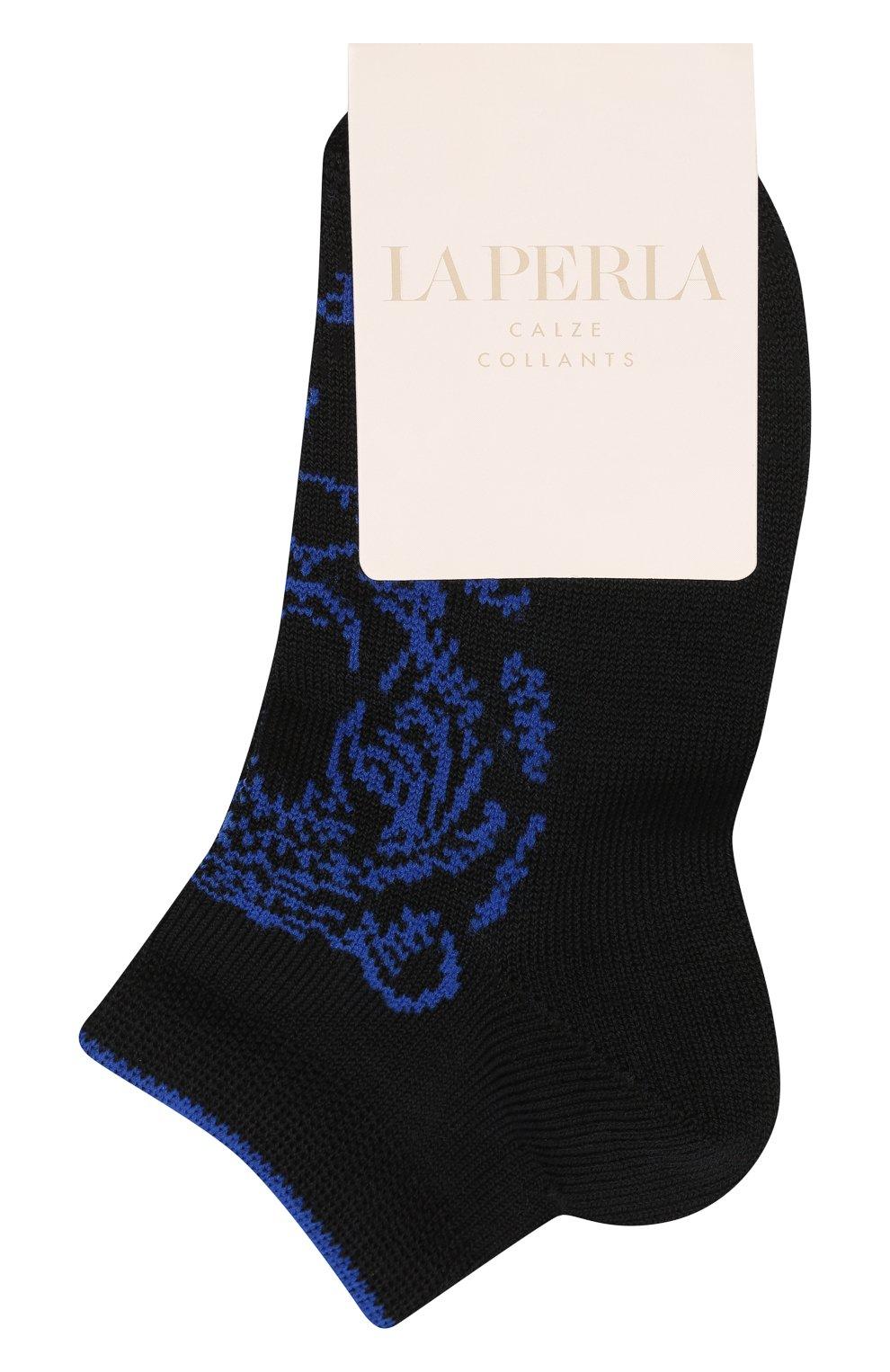 Детские хлопковые носки LA PERLA черного цвета, арт. 42375/4-6   Фото 1 (Материал: Текстиль, Хлопок)