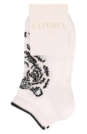 Детские хлопковые носки LA PERLA белого цвета, арт. 42375/4-6 | Фото 1