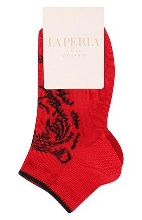 Детские хлопковые носки LA PERLA красного цвета, арт. 42375/4-6 | Фото 1