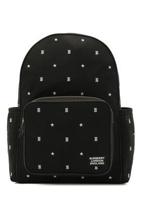 Детская рюкзак BURBERRY черного цвета, арт. 8037137 | Фото 1
