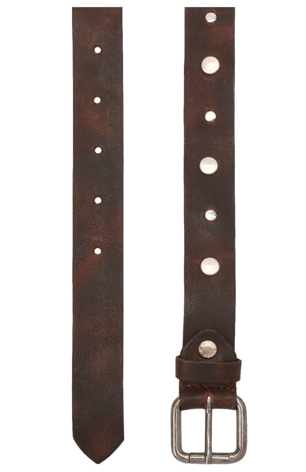 Детский кожаный ремень PAOLO PECORA MILANO коричневого цвета, арт. PP2752   Фото 2