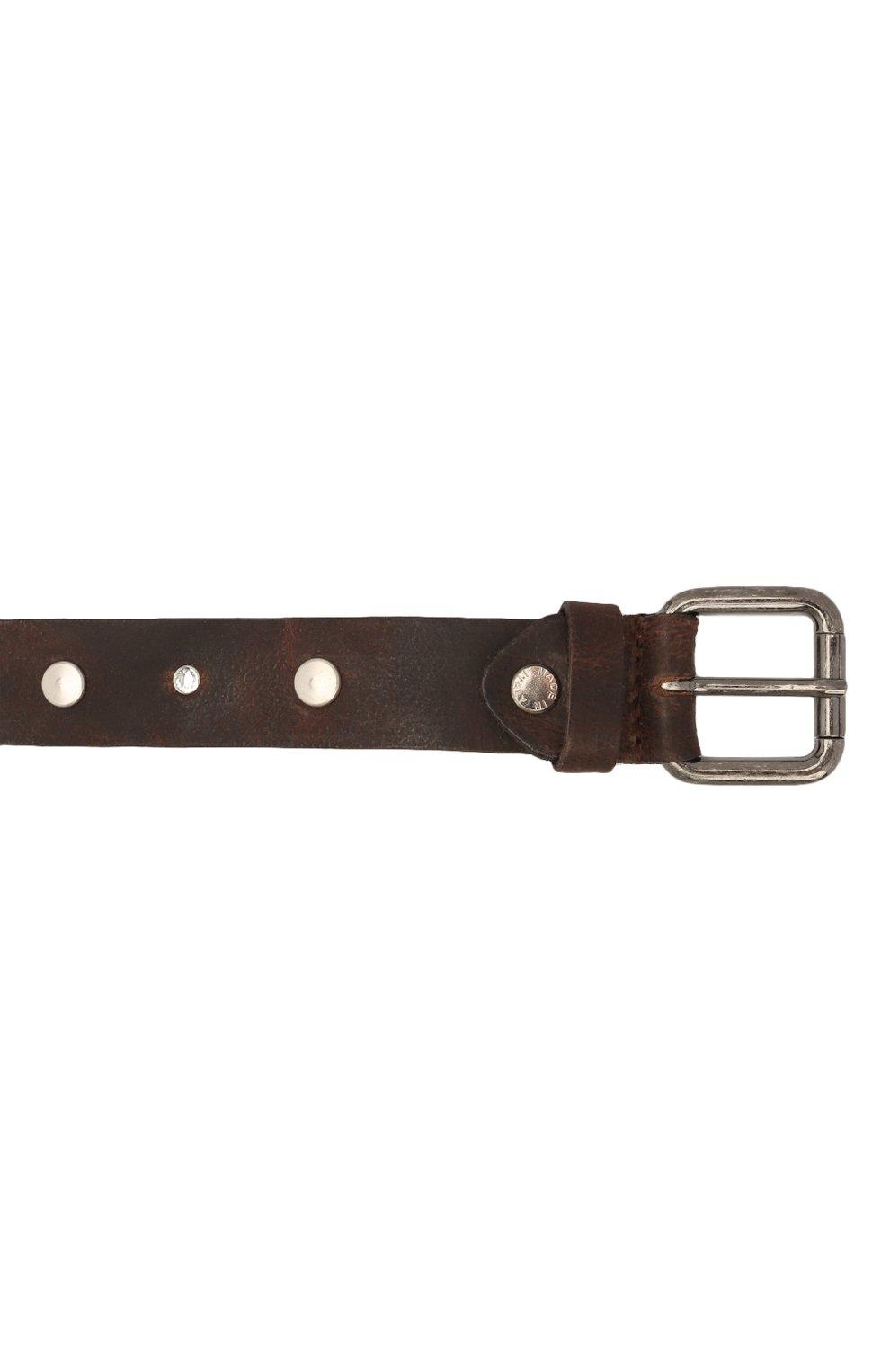 Детский кожаный ремень PAOLO PECORA MILANO коричневого цвета, арт. PP2752   Фото 3