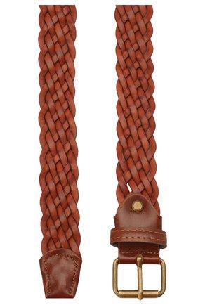 Детский кожаный ремень PAOLO PECORA MILANO коричневого цвета, арт. PP2751 | Фото 2