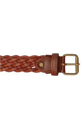 Детский кожаный ремень PAOLO PECORA MILANO коричневого цвета, арт. PP2751   Фото 3