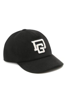 Детская хлопковая бейсболка DOLCE & GABBANA черного цвета, арт. LB4H85/G7XSD | Фото 1