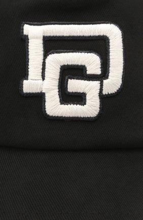 Детская хлопковая бейсболка DOLCE & GABBANA черного цвета, арт. LB4H85/G7XSD   Фото 3