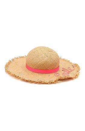 Детская соломенная шляпа IL TRENINO разноцветного цвета, арт. 21 5205 | Фото 1
