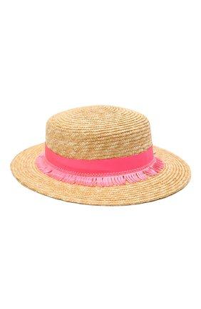 Детская соломенная шляпа IL TRENINO разноцветного цвета, арт. 21 5202 | Фото 1