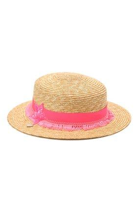 Детская соломенная шляпа IL TRENINO разноцветного цвета, арт. 21 5202 | Фото 2
