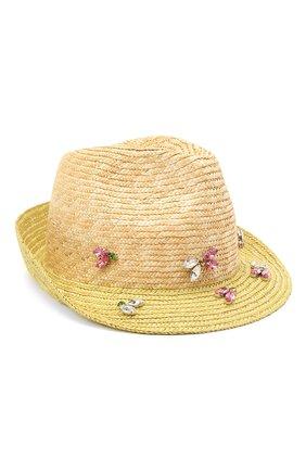 Детская соломенная шляпа IL TRENINO разноцветного цвета, арт. 21 5201 | Фото 1