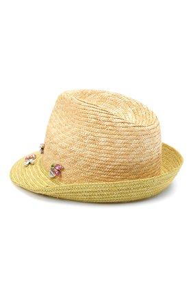 Детская соломенная шляпа IL TRENINO разноцветного цвета, арт. 21 5201 | Фото 2