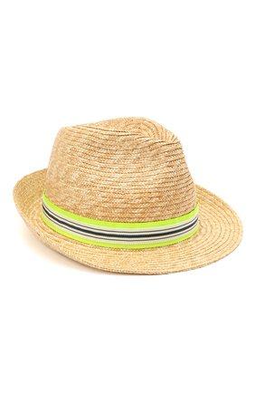 Детская соломенная шляпа IL TRENINO разноцветного цвета, арт. 21 5196 | Фото 1