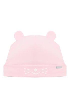 Детского хлопковая шапка IL TRENINO светло-розового цвета, арт. 21 5187 | Фото 1