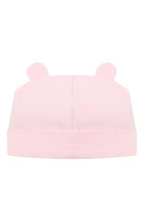 Детского хлопковая шапка IL TRENINO светло-розового цвета, арт. 21 5187 | Фото 2