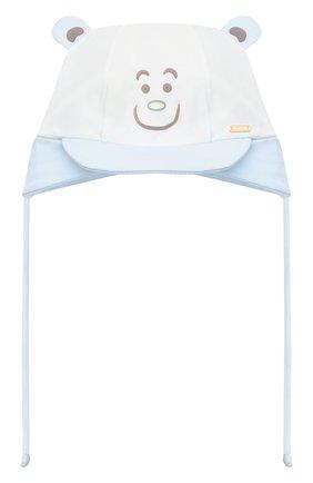 Детского хлопковая шапка IL TRENINO голубого цвета, арт. 21 5184 | Фото 1 (Материал: Текстиль, Хлопок)