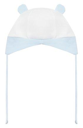 Детского хлопковая шапка IL TRENINO голубого цвета, арт. 21 5184 | Фото 2 (Материал: Текстиль, Хлопок)