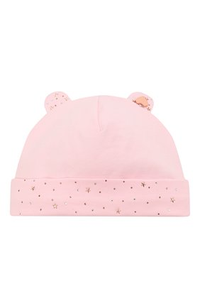Детского хлопковая шапка IL TRENINO светло-розового цвета, арт. 21 5180 | Фото 1