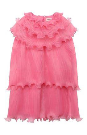 Детское платье ALBERTA FERRETTI JUNIOR розового цвета, арт. 027863 | Фото 1