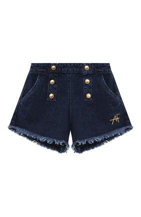 Детские джинсовые шорты ALBERTA FERRETTI JUNIOR синего цвета, арт. 027843 | Фото 1