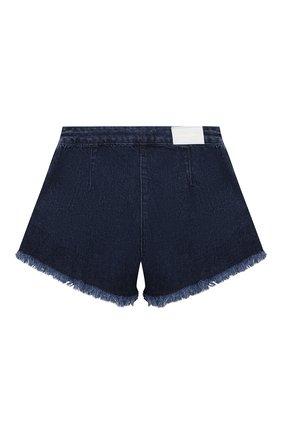 Детские джинсовые шорты ALBERTA FERRETTI JUNIOR синего цвета, арт. 027843 | Фото 2
