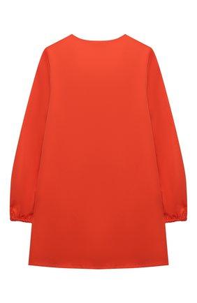 Детское хлопковое платье ALBERTA FERRETTI JUNIOR оранжевого цвета, арт. 027819   Фото 2