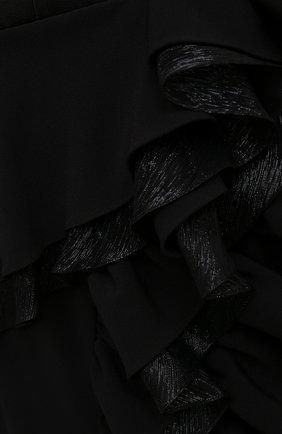 Женское платье ULYANA SERGEENKO черного цвета, арт. ABM003FW21NY(2074т20) | Фото 5 (Случай: Вечерний; Рукава: Короткие; Женское Кросс-КТ: платье-футляр, Платье-одежда; Материал внешний: Синтетический материал; Длина Ж (юбки, платья, шорты): Миди; Стили: Романтичный; Материал подклада: Шелк)