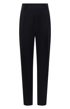 Женские хлопковые брюки BOSS темно-синего цвета, арт. 50448216 | Фото 1