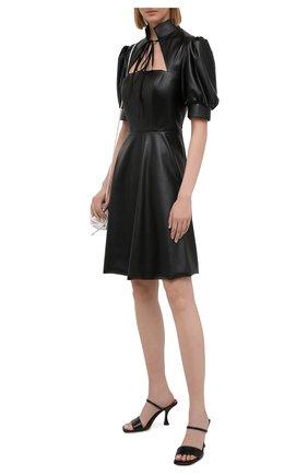 Женское платье из экокожи MASTERPEACE черного цвета, арт. MP-ECO21-09 | Фото 2