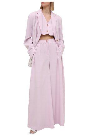 Женские брюки из вискозы LESYANEBO светло-розового цвета, арт. SS21/Н-455 | Фото 2