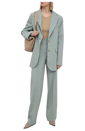 Женские брюки из вискозы LESYANEBO серого цвета, арт. SS21/Н-157-1_1 | Фото 2