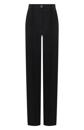 Женские брюки из вискозы LESYANEBO черного цвета, арт. SS21/Н-157-1_2 | Фото 1 (Материал внешний: Вискоза, Синтетический материал; Длина (брюки, джинсы): Удлиненные; Женское Кросс-КТ: Брюки-одежда; Силуэт Ж (брюки и джинсы): Прямые; Стили: Кэжуэл)