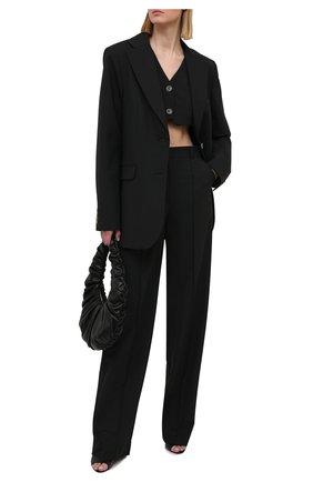 Женские брюки из вискозы LESYANEBO черного цвета, арт. SS21/Н-157-1_2 | Фото 2 (Материал внешний: Вискоза, Синтетический материал; Длина (брюки, джинсы): Удлиненные; Женское Кросс-КТ: Брюки-одежда; Силуэт Ж (брюки и джинсы): Прямые; Стили: Кэжуэл)